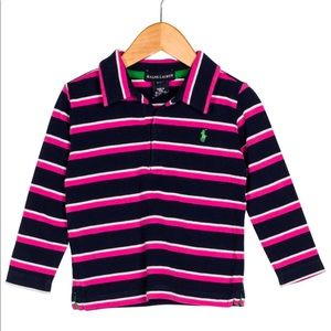 Ralph Lauren Girls' Striped Collared Top